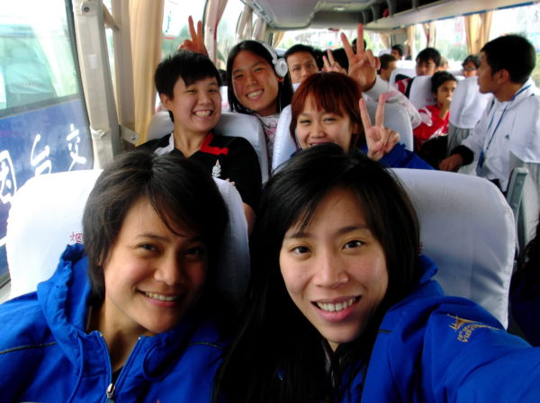 54.with Thailand team